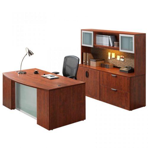 Pl Laminate Step Front Desk Macbride Office Furniture